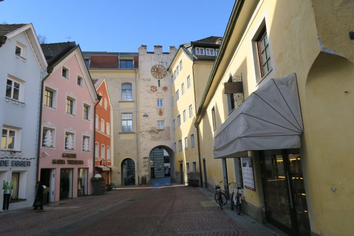 Bunte Häuser in Bruneck