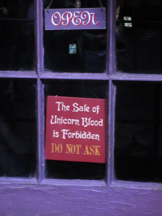 The sale of unicorn blood is forbidden - do not ask