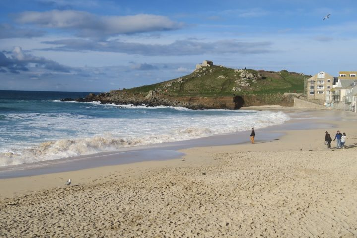 Porthmeor Beach in St. Ives, Cornwall