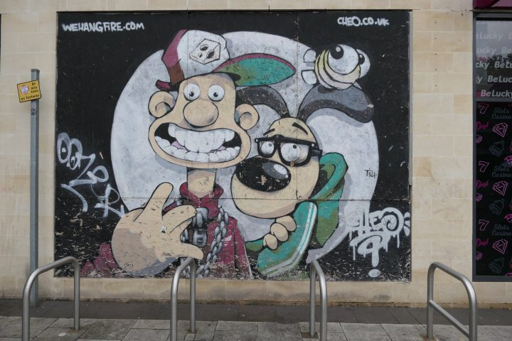 Street Art Wallace and Gromit in Bristol