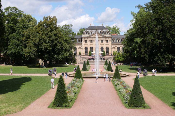 Schlossgarten Fulda Blick auf die Orangerie