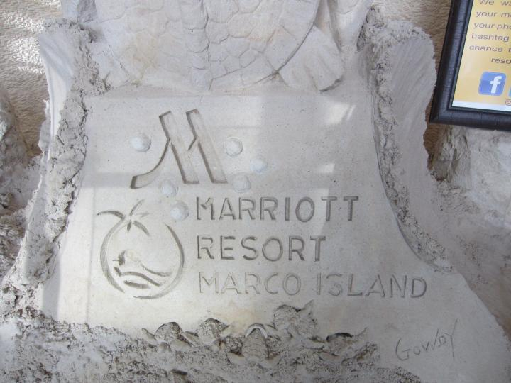 Sandskulptur im Marco Island Marriott Resort