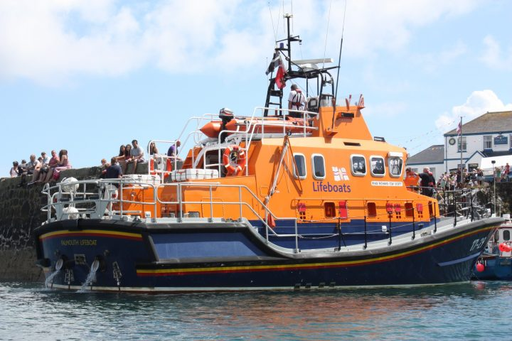 Lifeboat in Coverack, Cornwall