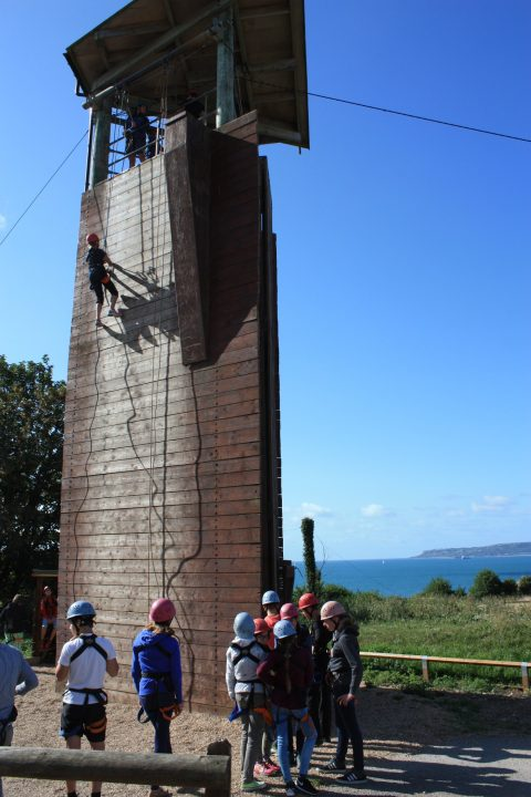 Abseiling English Adventure Camp Osmington Bay PGL
