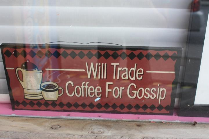 Will trade - Coffee for Gossip