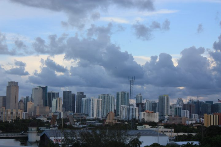 Die Skyline von Downtown Miami, Florida