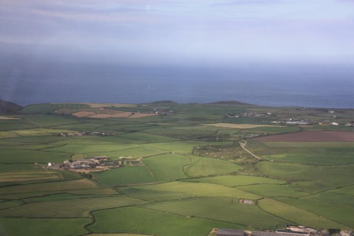 Weiden und Felder in Cornwall, Penwith Peninsula, Land's End