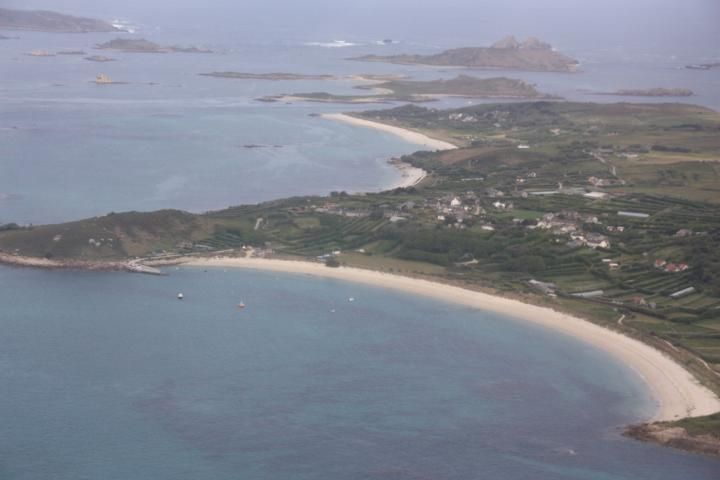 St. Mary's Isles of Scilly from above