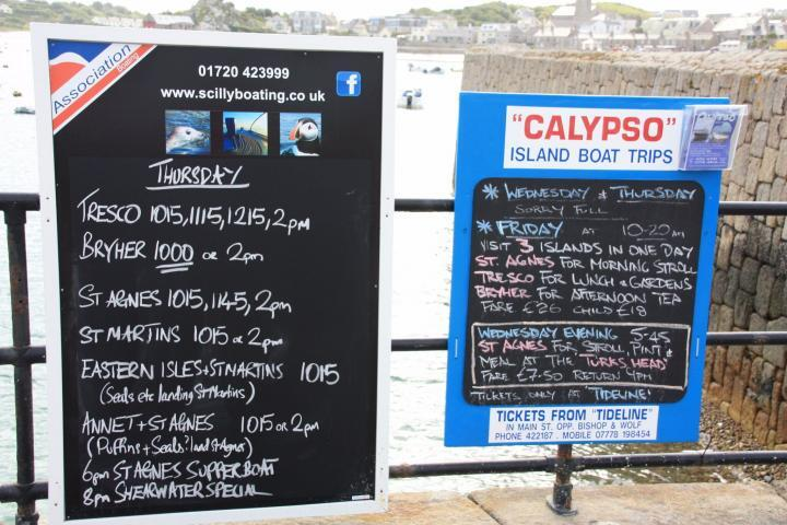 signs at the port of St. Mary's, Isles of Scilly
