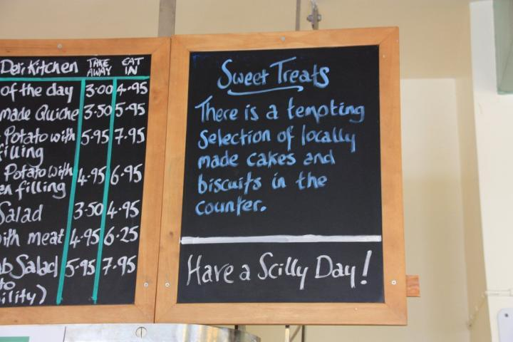 Sign on Scilly Island