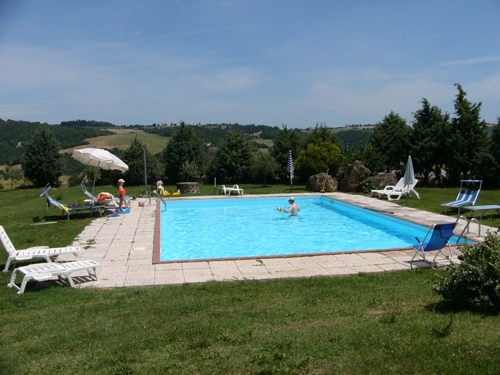Pool bei Le Selvole bei Volterra