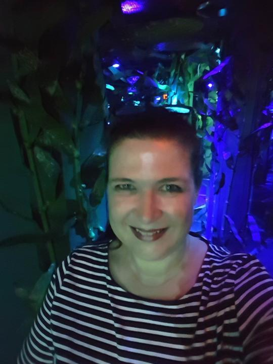 Antje Gerstenecker im National Geographic Encounter Ocean Odyssey Time Square