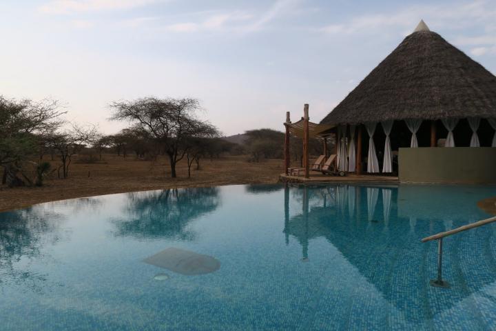 Pool im Severin Safari Camp, Kenia mit Kindern