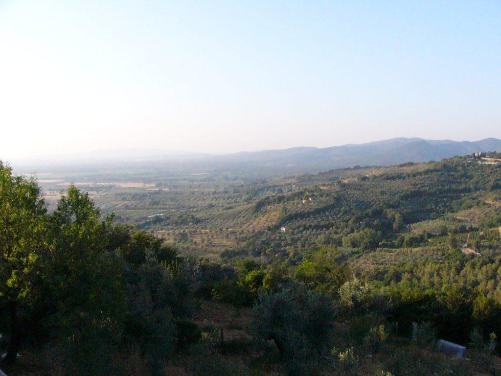 Blick von Castagneto-Carducci auf das Küstenhinterland